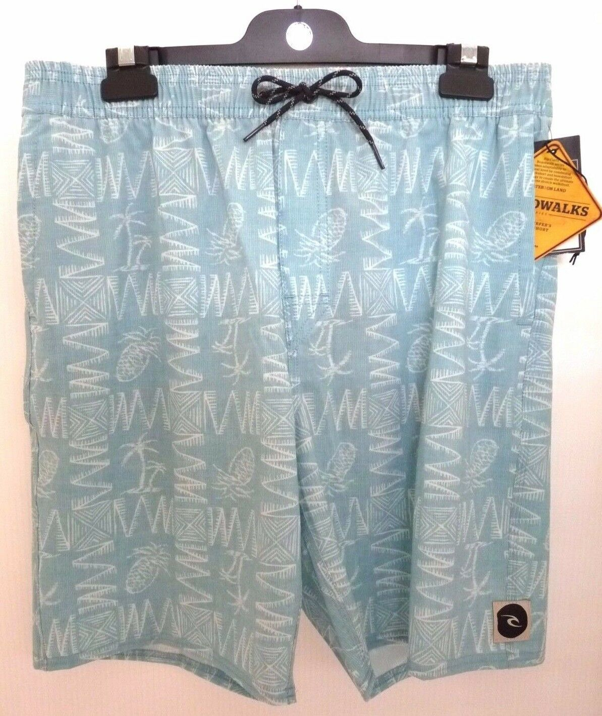 NEW RIP CURL MEN HUSTLE VOLLEY BOARDWALK SHORT TEAL size 32 code 1-77 RP