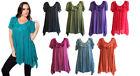 NEW FILO Rosette Flower Short Sleeve Tunic Top SIZES 10 12 14 16 18 20 22