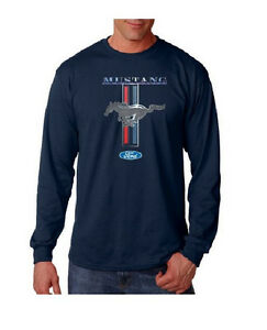 Long sleeve t shirt classic ford mustang logo shirt car for Vintage mustang t shirt