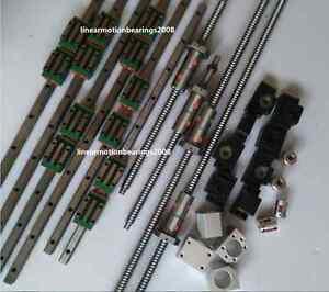 20mm HIWIN Linear guide rail carriages , Ball screws DOUBLE BALLNUTS  CNC