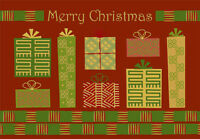 Red And Green Gifts African American Box Of 18 Christmas Cards