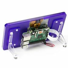 """Official Raspberry Pi 7"""" Touchscreen Display With Royale (Purple) Stand"""