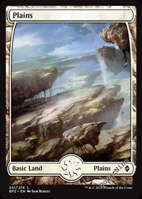 Plains x4 Amonkhet Near Mint English -BFG- MTG Magic 4x Full Art