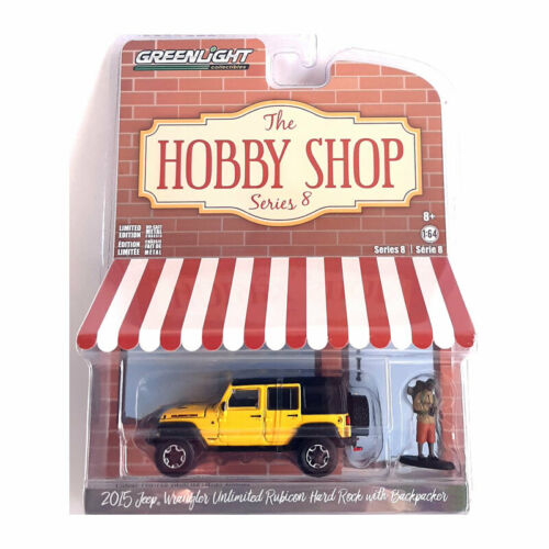 Greenlight 97080-F Jeep Wrangler Unlimited Rubicon gelb The Hobby Shop NEU!°