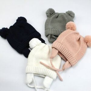 270a9c6ac80 Toddler Kids Girl Boy Baby Infant Winter Warm Earflap Knitted Beanie ...