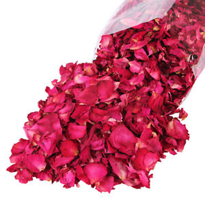 100g Dried Rose Petals Natural Dry Flower Petal Spa Whitening Shower Bath Too Vf