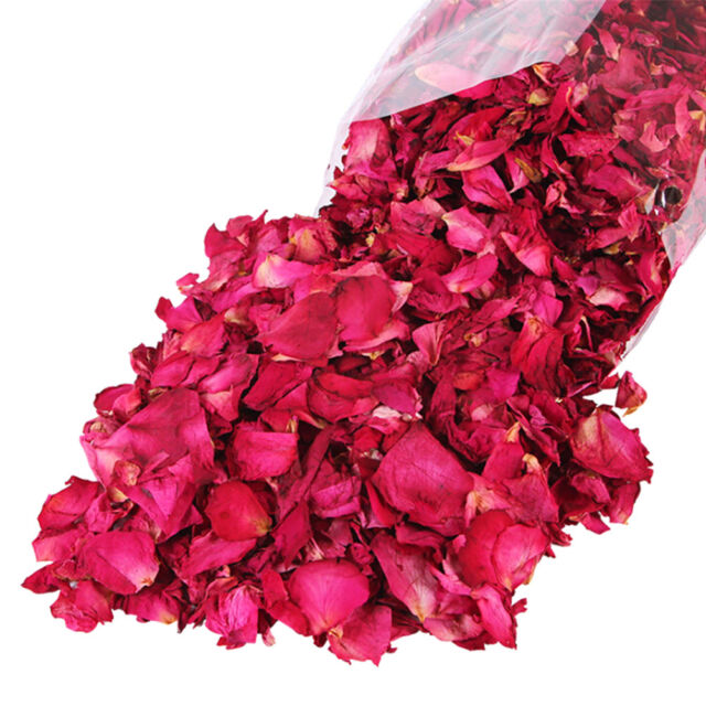100g Dried Rose Petals Natural Dry Flower Petal Spa Whitening Shower Bath ToolJF