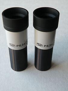 CARL-ZEISS-JENA-microscopio-P-6-3x-19-gli-oculari-COPPIA-d-23-2mm