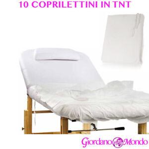 COPRI LETTINO MASSAGGI 10 pz IN TNT COPRI LETTINO MASSAGGI MONOUSO PROFESSIONALE