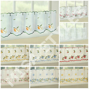 Image Is Loading Kitchen Voile Cafe Net Curtain Panel Ready Made