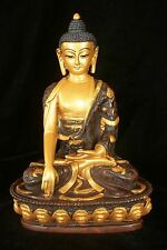 Gold Buddha statue Resin 22cm