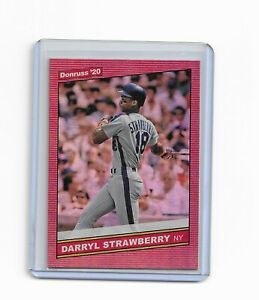Darryl-Strawberry-2020-Donruss-Red-Holo-Retro-86-Card-231-New-York-Mets
