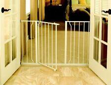 Indoor Dog Gate Adjustable Hallway Barrier Wooden Barricade Pet Wall