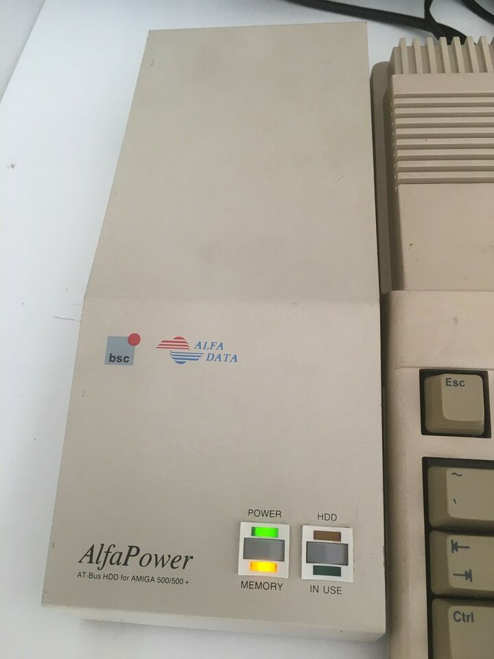 Alfa Power Amiga 500 HD RAM sidecar udvidelse ,
