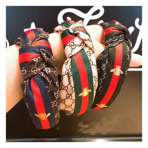 Fashion-Ladies-G-Style-Striped-Knot-Bee-Hairband-Hair-Head-Band-Hair-Accessories