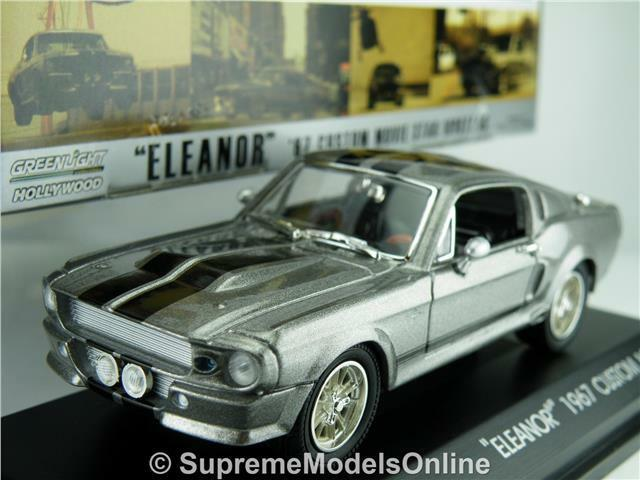 MUSTANG 1967 ELEANOR GONE IN 60 SECONDS CAR 1 43 GREENLIGHT GREY EXAMPLE T341(=)