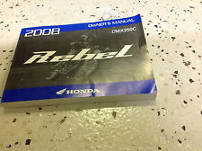 genuine honda owners manual rebel cmx250c 2008 cmx 250 c cmx250 250c rh ebay com 2008 honda shadow 750 service manual 2008 honda shadow aero owners manual