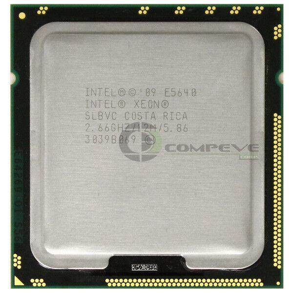 Lot of 2 Intel Xeon E5640 2.66GHz Quad-Core SLBVC CPU Processor