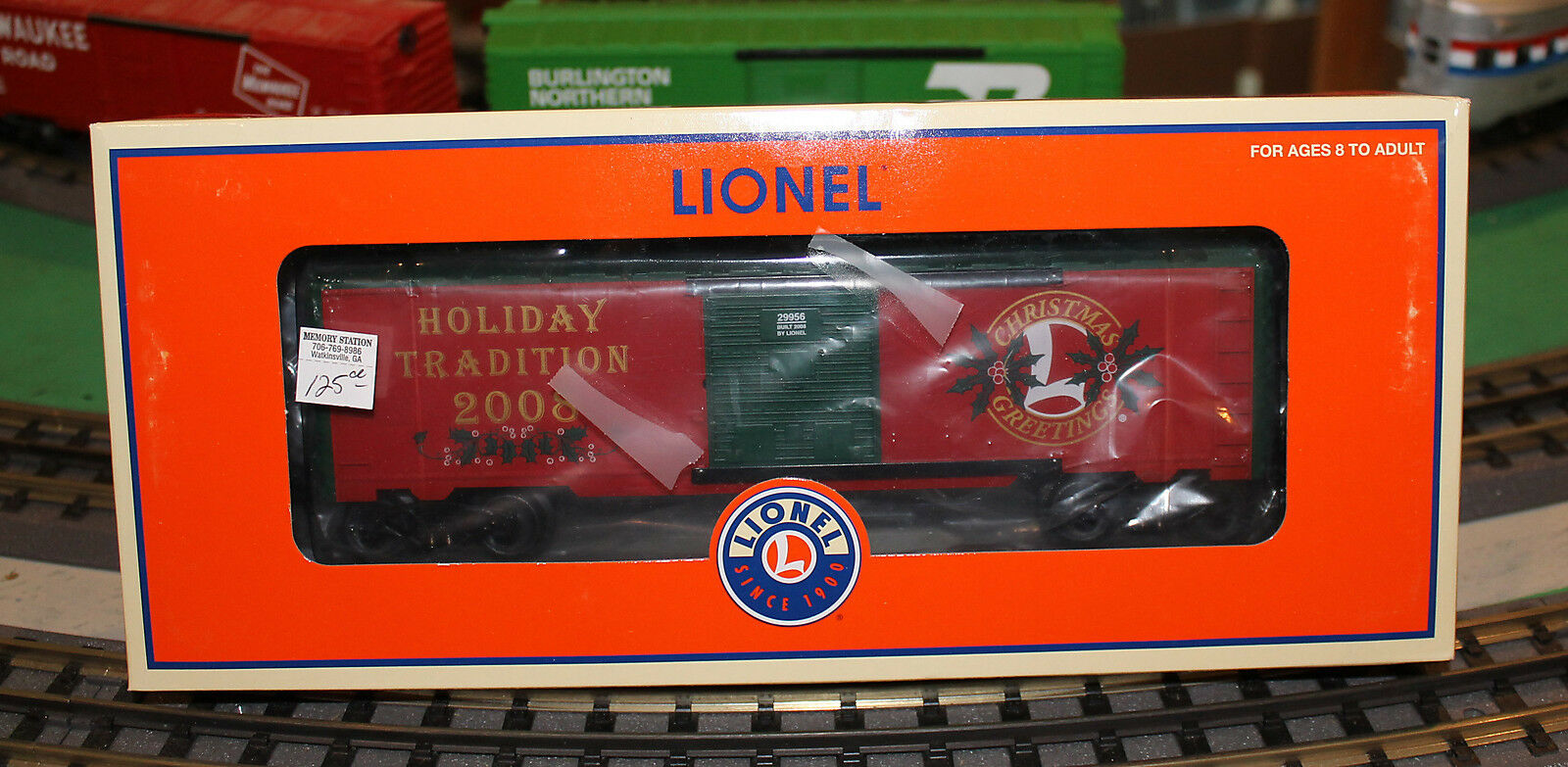Lionel 2008 empleado Navidad Furgón nuevo 6-29956