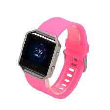 Silicone Sport Bracelet Wrist Band Strap Replace For Fitbit Blaze Smart Watch