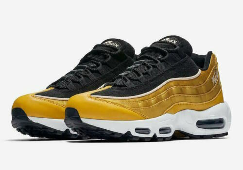 Nike Air Max 95 LX Womens Aa1103 700 Wheat Gold Black Running Shoes Size 7