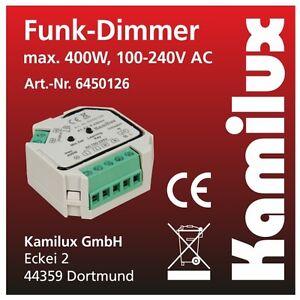 kamilux funk led dimmer 230v spannung f r dimmbare led leuchte ebay. Black Bedroom Furniture Sets. Home Design Ideas