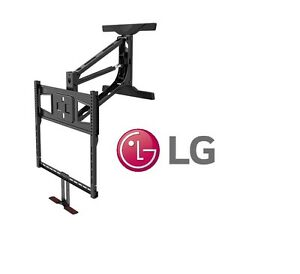 Above fireplace pull down full motion lg tv wall mount 40 - Pull down tv mount over fireplace ...