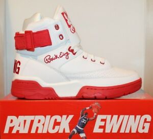 9a4d3edd539 Image is loading Mens-Patrick-Ewing-Athletics-33-HI-White-Red-