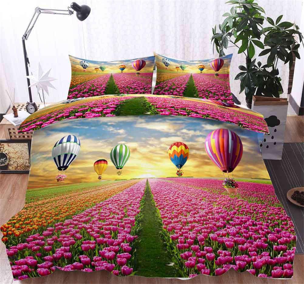 Tulip Balloons 3D Printing Duvet Quilt Doona Covers Pillow Case Bedding Sets