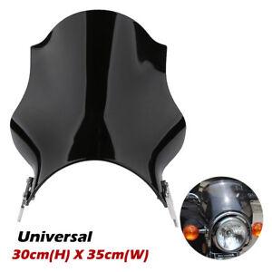Universal-Windshield-Windscreen-Suit-7-034-Round-Headlight-For-HONDA-SUZUKI-YAMAHA
