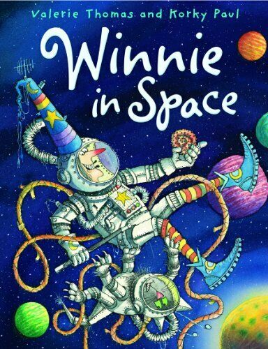 Winnie in Space (paperback and CD) (Winnie the Witch) By Valerie Thomas, Korky