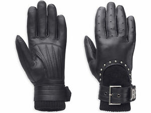 Harley-Davidson-Ladies-Paxton-3-in-1-Leather-Gloves-97397-14VW-XL-RRP-92-00