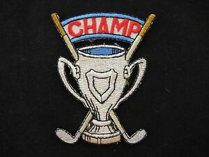 3515-Golf-Trophy-Trophy-CHAMP-word-Embroidery-Iron-On-Applique-Patch