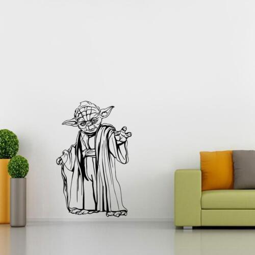 YODA Star Wars WALL STICKER Decal Art Mural Stencil Silhouette ST162
