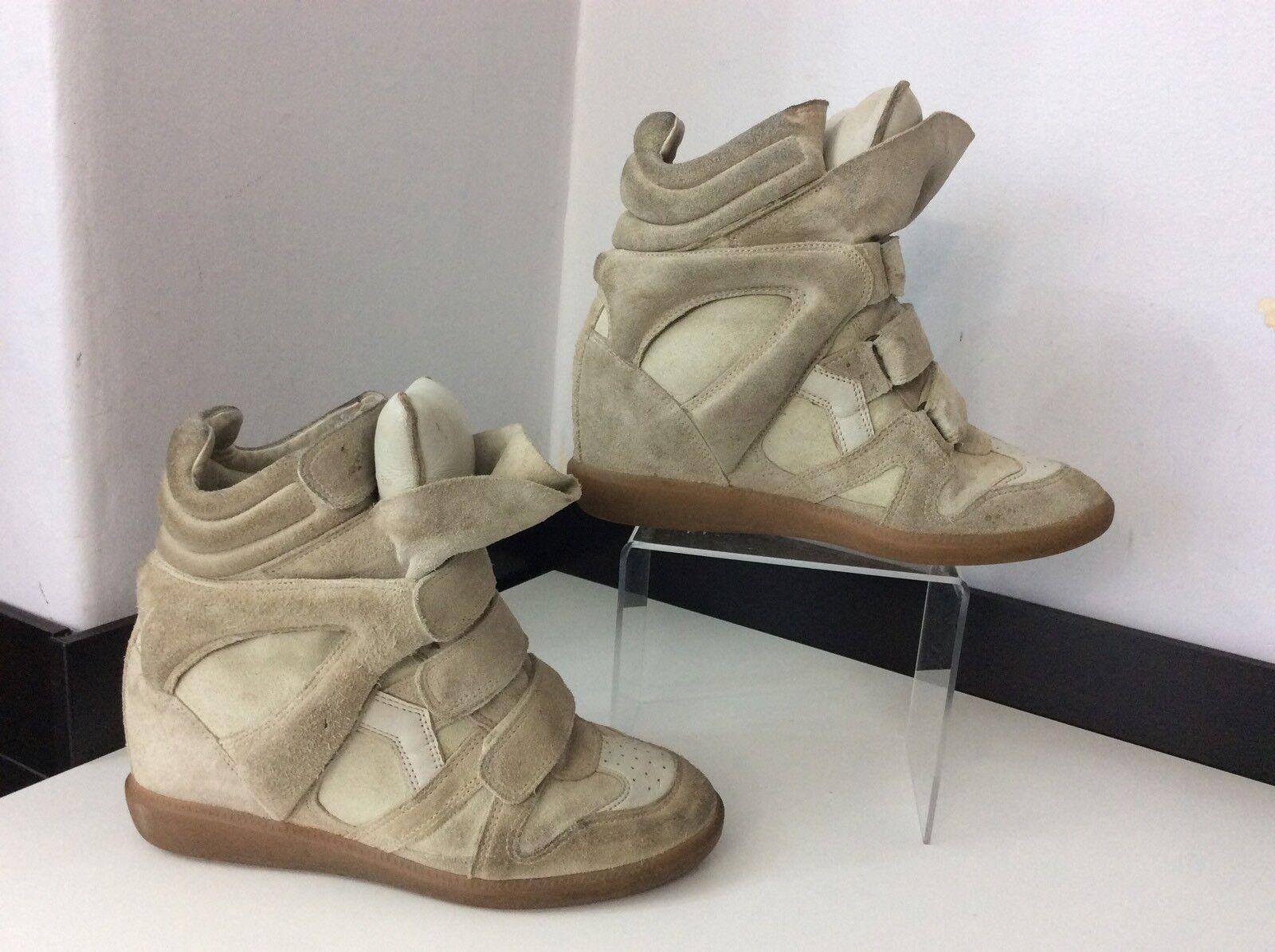 Isabel Marant Beige Suede Leather Stiefel Hi Tops Größe Größe Größe 38 Uk 5 Beckett    97a2a2