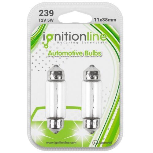 2 x 239 12 V C5W Voiture Feston Intérieur Plaque Ampoules SV8.8-8 11x38mm