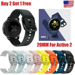 For Samsung Galaxy Watch 3 41mm Active 2 40 42 44mm Silicone Sport Band Strap