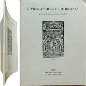 Bibliophilie Catalogue 1980 Successions Legueltel Livres Anciens Modernes