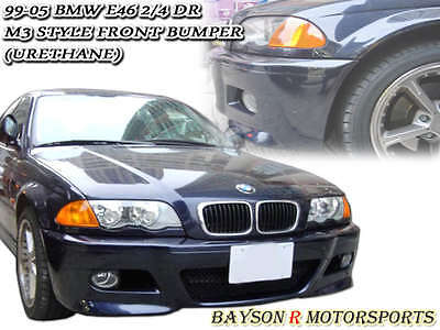 M-Style Front Bumper Cover (PP) Fits 98-05 BMW E46 4dr 3-Series