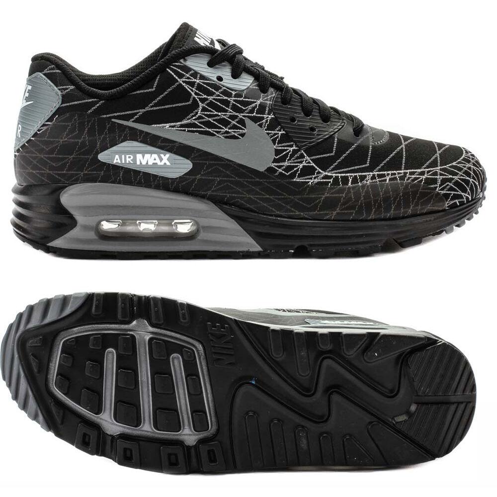 Nike Air Max Lunar90 Jacquard 654468-004 Black White Cool Grey Men's shoes