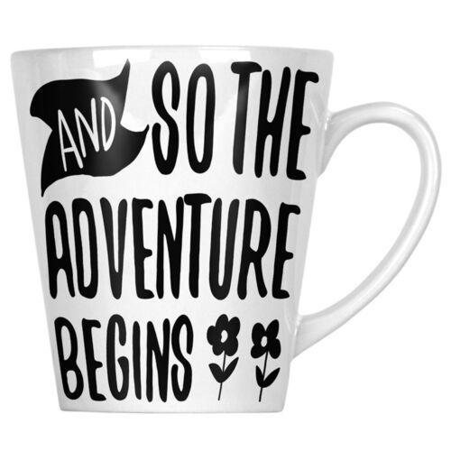 Latte Mug hh226L environ 340.19 g Et si l/'aventure commence 12 oz