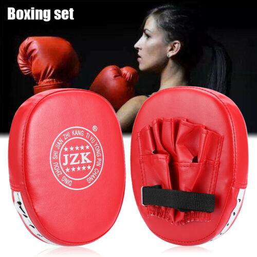 2pcs Boxing Gloves and Focus Pads Set Hook Jabs Mitts Punch Bag Gym Training BN