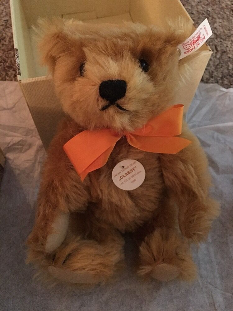 Steiff Exclusively For Japan Classy, rosso Blonde 26 Teddy Bear Mint In Box
