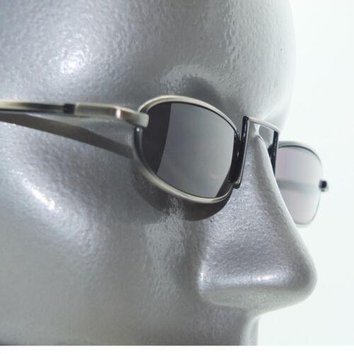 Dark Tint Reading Glasses Xtreme Narrow Lens Boho Gray Metal Frame +3.00 Power