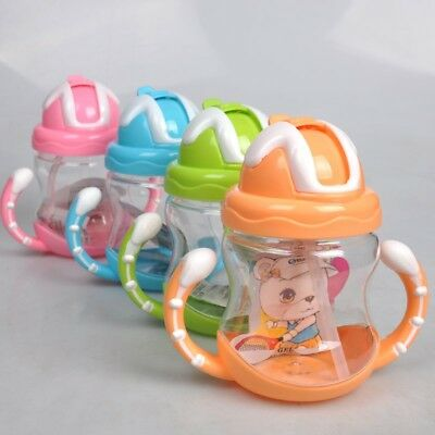 Nuby Cup Sippy Beaker Straw Non Spill Leak Proof Toddler Weaning Drinking Cup UK