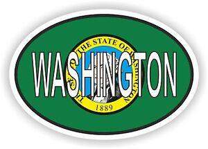 ovale-Washington-State-avec-drapeau-usa-autocollant-auto-moto-camion