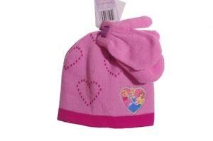 Disney-Princess-3T-Girls-Winter-Hat-Mittens-Sleeping-Beauty-Cinderella-Belle-NEW