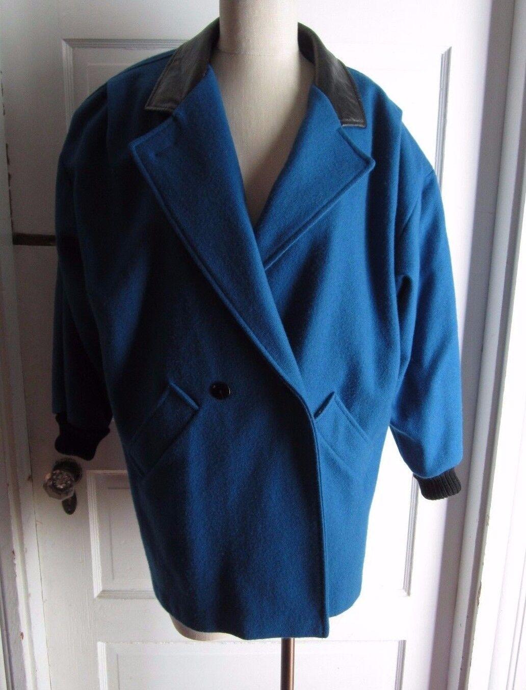 Sheridan Square Tejido Lana Corta  Abrigo De Cuero vegano Chaquetón para mujer 8 Azul Brillante  Los mejores precios y los estilos más frescos.