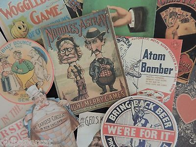 Lot of 12 NOODLES ASTRAY Vintage ADVERTISING Die Cuts 4 CRAFTS - FREE SHIP ~ B19