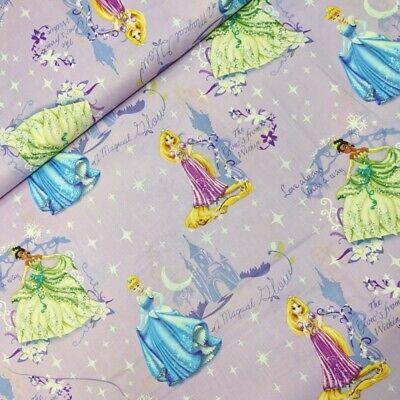 Springs Creative Fabric Disney Tossed Villains White HALF METRE